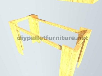 Les plans visant à faire une table avec palettes planches5