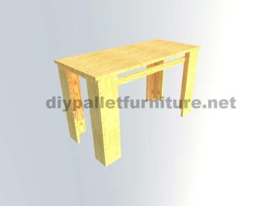Les plans visant à faire une table avec palettes planches6