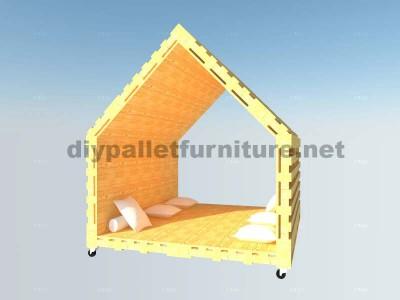 L'intérieur Maison chill-out ou jeux angle en palettes6
