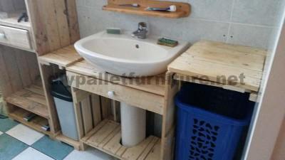 Meubles de salle de bains fabriqués entièrement à partir de palettes3