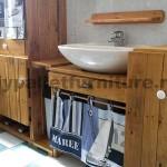 Meubles de salle de bains fabriqués entièrement à partir de palettes