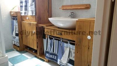 Meubles de salle de bains fabriqués entièrement à partir de palettes6