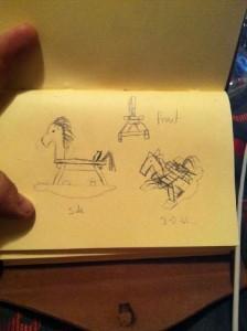 Palette cheval à bascule en bois pour les enfants1