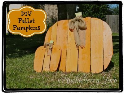 Une citrouille pour Halloween fait avec des palettes, étape par étape 1