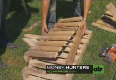 Vidéo d'instruction sur la façon de faire une chaise Adirondack avec une palette4