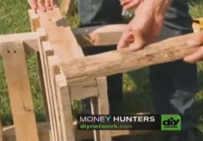 Vidéo d'instruction sur la façon de faire une chaise Adirondack avec une palette5