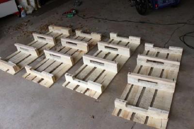 Étape par étape les instructions pour construire une étagère à chaussures utilisant des palettes12