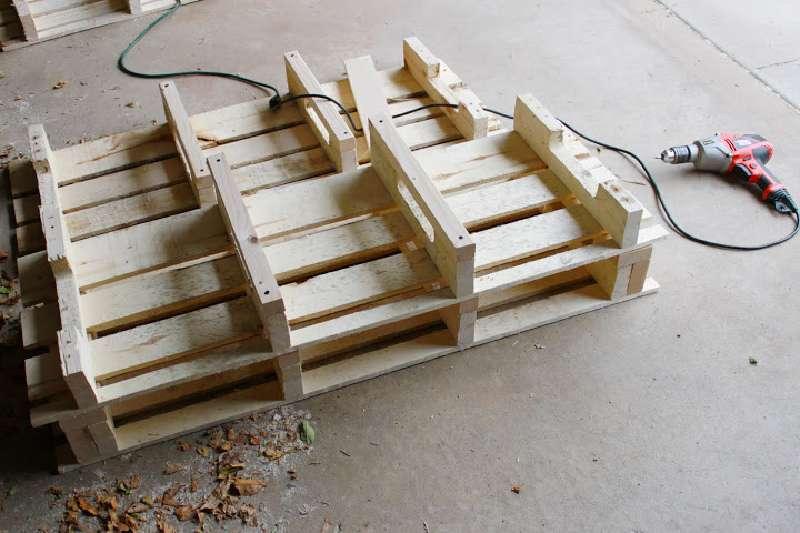 Tape par tape les instructions pour construire une - Meuble a chaussure en palette ...