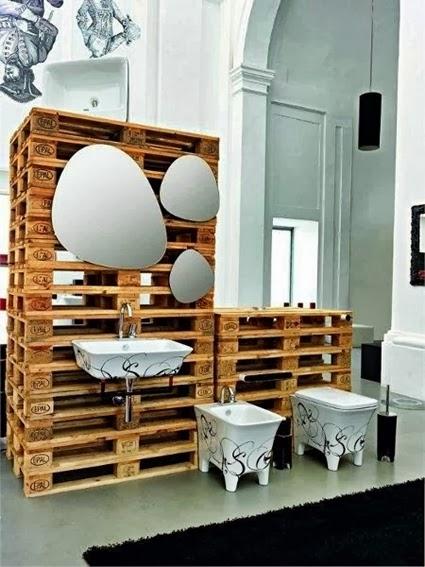 10 bonnes id es pour d corer votre salle de bains avec palettesmeuble en palette meuble en palette. Black Bedroom Furniture Sets. Home Design Ideas