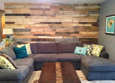 10 magnificent living rooms decorated with pallets 2