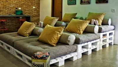 10 magnificent living rooms decorated with pallets 3