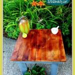 Comment faire une table rustique et vintage avec des for Construire une table de jardin avec des palettes