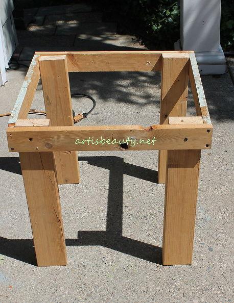 Comment construire une petite table vintage pour le jardin - Comment faire une table de jardin en palette ...