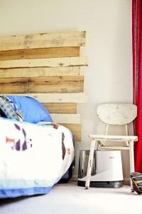 comment construire une t te de lit de palettes pour un lit. Black Bedroom Furniture Sets. Home Design Ideas