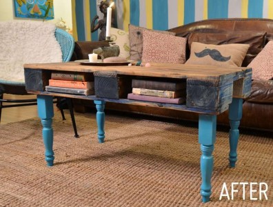 Comment transformer une palette dans une table de hipster pour le salon12