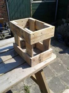 Instructions pour construire un tabouret avec des palettes2