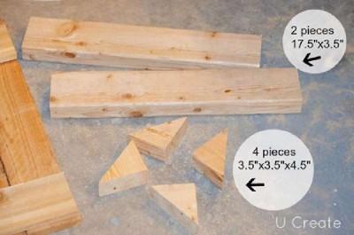 Instructions pour créer un support de palette pour des meubles de salle de bains4
