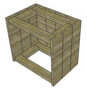 Instructions sur la façon de construire une table de chevet avec des palettes 3