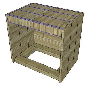 Instructions sur la façon de construire une table de chevet avec des palettes 7