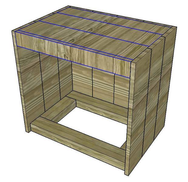 Instructions sur la fa on de construire une table de - Construire une table de chevet ...