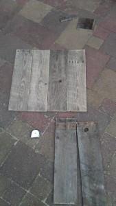 Instructions sur la façon de construire une table de chevet avec des palettes 8