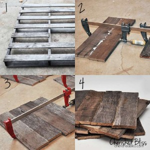 Instructions sur la façon de faire quatre napperons avec palettes4