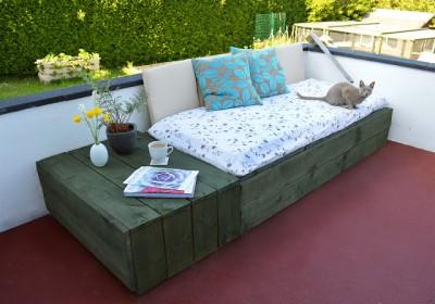 Instructions sur la façon de faire un canapé pour la terrasse à l'aide des palettes1