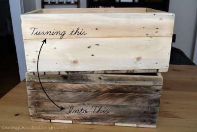Instructions sur la façon de faire une boîte de palettes de stockage1