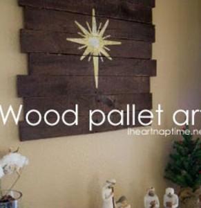 Instructions sur la façon de faire une murale en bois de Noël avec palettes1