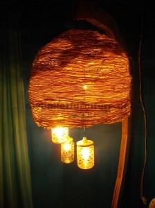 La structure de la lampe construit utilisant des planches de palettes1