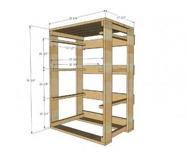 Les plans et les instructions pour construire un tiroir pour votre lessive2