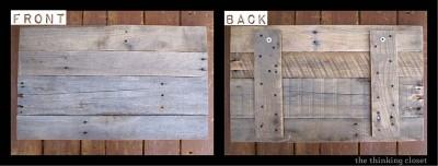 Une bonne idée, signes faite de planches de palettes!2