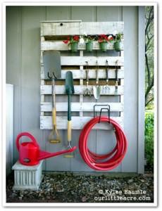 10 idées merveilleux de décoration pour votre jardin à l'aide de palettes 17