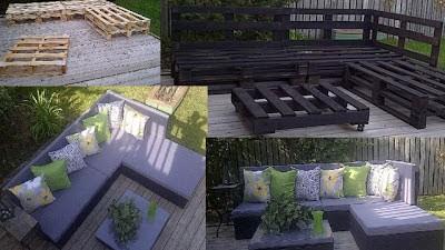 10 idées merveilleux de décoration pour votre jardin à l'aide de palettes 6