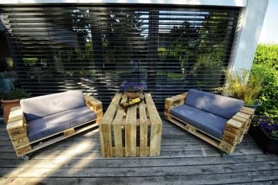 10 idées merveilleux de décoration pour votre jardin à l'aide de palettes 7