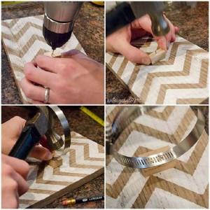 Construire un vase suspendu avec palettes pour votre porte de la maison6