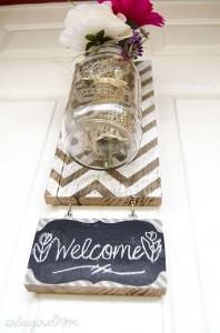 Construire un vase suspendu avec palettes pour votre porte de la maison8