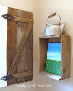 Construire une volet rustique pour votre toilette utilisant des planches de palettes 10