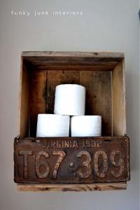 Construire une volet rustique pour votre toilette utilisant des planches de palettes 12