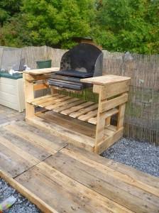 Instructions et des plans pour construire un barbecue avec palettes étape par étape 2