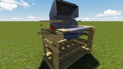 Instructions et des plans pour construire un barbecue avec palettes étape par étape 8