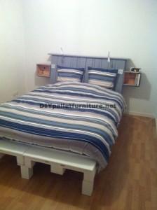Fantastique lit et tête de lit construit avec six europalettes 3
