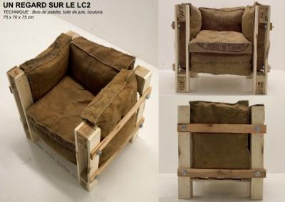 fauteuil design fait avec des objets recycl smeuble en palette meuble en palette. Black Bedroom Furniture Sets. Home Design Ideas