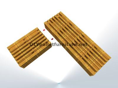 Guide étape par étape pour faire facilement un canapé chaise-longue avec palettes entières 3