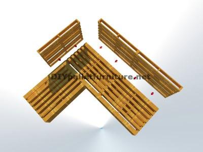 Guide étape par étape pour faire facilement un canapé chaise-longue avec palettes entières 4