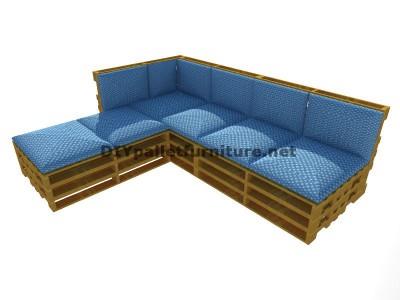 Schritt f r schritt anleitung um leicht ein sofa mit chaise lange mit ganzen palettenmobel aus - Palettenmobel sofa ...