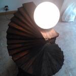 Lampadaire étonnante faite avec palettes