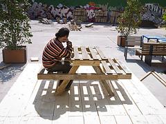 Plans pour faire une table de pique-nique et un composteur avec des palettes 1
