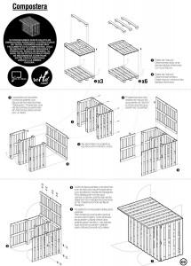 Plans pour faire une table de pique-nique et un composteur avec des palettes 3
