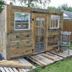 Projet de cabane de palettes: Le revêtement de palettes